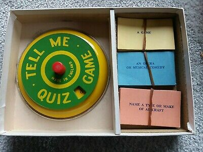 Vintage Tell Me Quiz Game From Spears Games - Metal Spinner - 1960's (220) • 12.95£