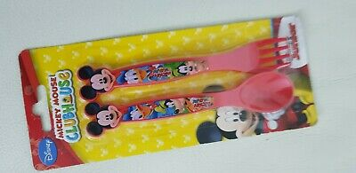 Disney Cutlery Fork Spoon Set - Mickey Mouse, Christmas Gift • 3£
