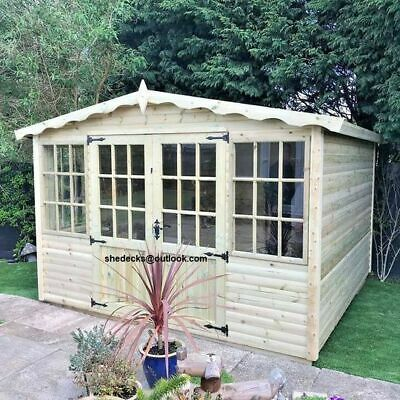 Apex Log Cabin Titan Very Storng And Heavy 36mm Log Lap Cladding Summer House • 2,360£