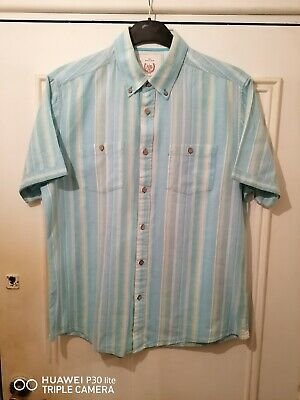 Atlantic Bay Mens Short Sleeve Casual Shirt Size  Medium  Very Good Used • 3.50£