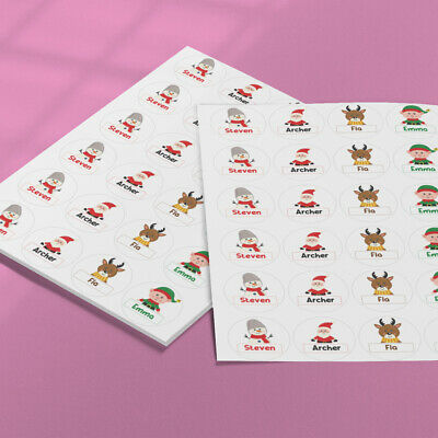 60 X Personalised Christmas Stickers - Christmas Presents Label • 3.25£