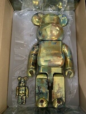 $485 • Buy Medicom Be@rbrick Bearbrick Pushead #5 Gold 100% & 400% Transfer 2020