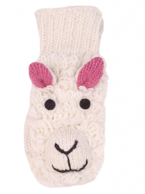 Pachamama Animal Mittens 100% Wool Fair Trade Cosy Novelty Gloves Sheep Face NEW • 11.99£