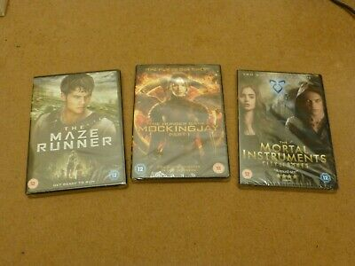 Maze Runner, Hunger Games And Mortal Instruments DVDs *NEW* • 4.99£