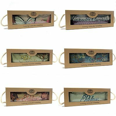 Gift Boxed Luxury Wheat / Lavender Bag - Microwavable Warmer Wheaty Heat Cushion • 13.05£
