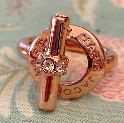 £27.61 • Buy Marc Jacobs Katie Toggle Ring(Size M/L), Rose Gold
