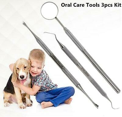 Dental Set For Dog Cat Teeth Whitening Plaque Remover Pet Oral Care Tools 3p Kit • 5.38£