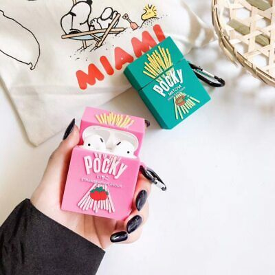 AU23.95 • Buy Cute Strawberry Matcha Pocky Apple AirPod Silicone Case Cover Holder Protector