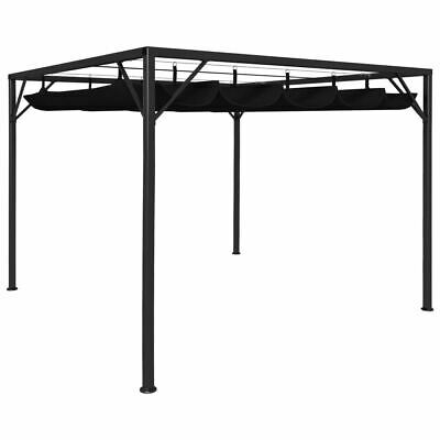 AU296.95 • Buy Gazebo With Retractable Roof Outdoor Shelter Patio Sunshade Steel Frame 3x3m