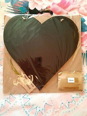£5 • Buy Heart Shaped Chalkboard With Chalk. New Sealed