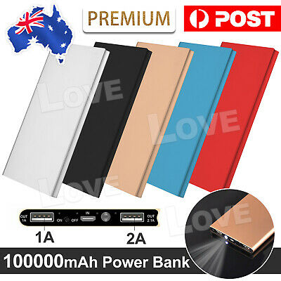 AU16.95 • Buy 100000mAh Portable Power Bank USB Battery Charger Powerbank For IPhone Mobile