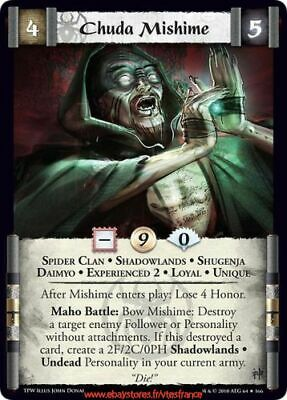 L5R Ccg - Chuda Mishime (Experienced 2) - Spider Clan / Tpw Eng • 1£