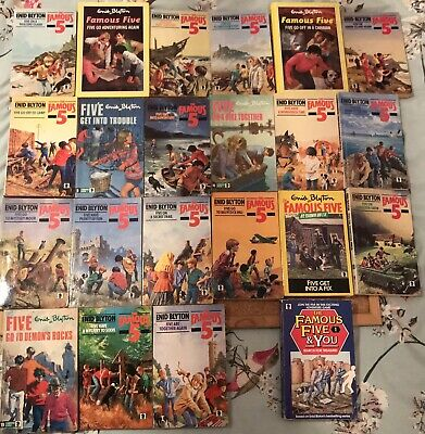 FAMOUS FIVE FULL SET Of 21 Books, ENID BLYTON, Complete + Famous Five And You • 45£