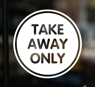 £3.99 • Buy TAKE AWAY ONLY Delivery Sign Window Sticker Food Restaurant Pub Kebab Pizza Cafe