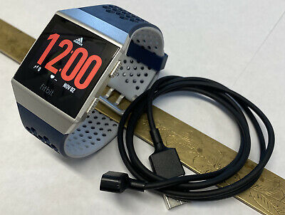 $ CDN139.59 • Buy Fitbit Ionic Activity Tracker Adidas Edition Blue & Gray Large Band Mint Cond