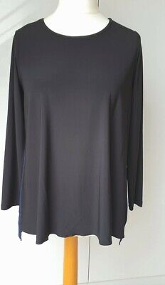 £15.50 • Buy New * Yong Kim * Tunic * 12 * Plain Front With Contrast Crepe Pleated Back Qvc