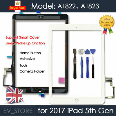 For 2017 IPad 2th Gen A1822 A1923 Touch Screen Digitizer Replacement White + IC • 13.97£