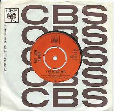 £6 • Buy Love Affair (The):A Day Without Love/Im Happy:UK CBS:1968