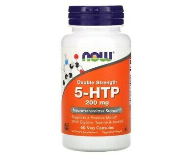 AU36.50 • Buy Now Foods, 5-HTP, Double Strength, 200 Mg, 60 Veg Capsules I