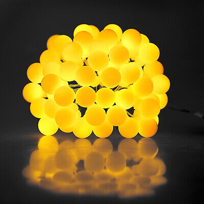 USB Electric Plug-in Berry Ball Bulb Fairy String Lights Waterproof Out/Indoor • 9.59£