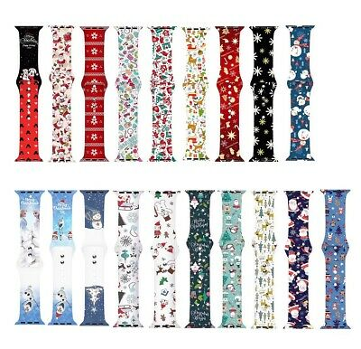 $ CDN11.32 • Buy Replacement Christmas Silicone Band IWatch Strap For Apple Watch Series 6/5/4/SE