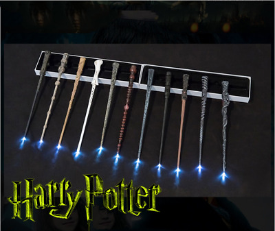 LED Boxed Harry Potter Dumbledore Voldemort Hermione Magic Wand Collection UK • 8.99£