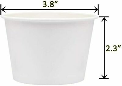 30 X Disposable Paper 8oz Delicious Ice Cream Cups Jelly Sweet Treat Tubs Party  • 7.99£