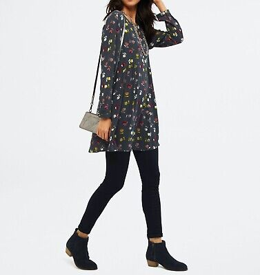 Ex WHITE STUFF Wildings Abstract Floral Print Tunic Top Dress  • 17.95£