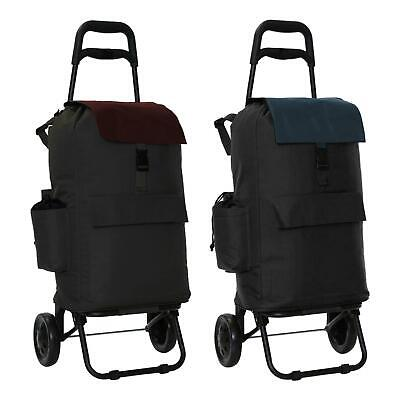 Fully Insulated Shopping Trolley Grocery Luggage Carrier Cart Bag With 2 Wheels • 21.99£