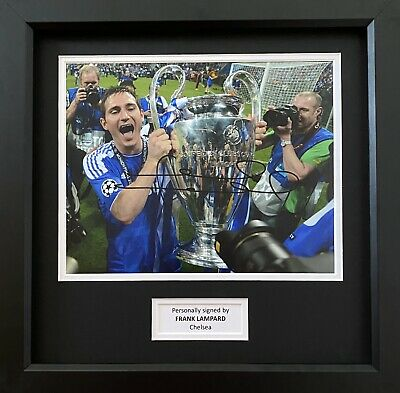 Frank Lampard Genuine Hand Signed Chelsea Photo In 14x11 Frame Display • 149.99£