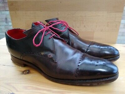Jeffery West - Dark Chestnut Brown Two Tone Brogues - Leather - Size 10.5 • 50£