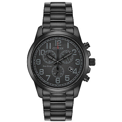 $107.99 • Buy Citizen Eco-Drive Men's Chronograph Date Black Dial Band 39mm Watch AT0205-52E
