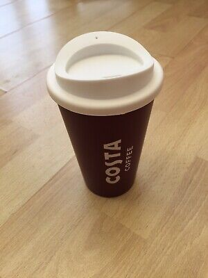 Costa Coffee Reuseable Travel Mug Cup With Lid  • 6.99£