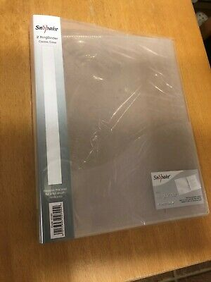 £20 • Buy Snopake 2 Ring 25mm Classic Clear A4 Ring Binder (Pack Of 8)