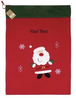 £9.47 • Buy Christmas Deluxe Red Santa Father Xmas Large Sack Personalised Big Gift Bag 🎅🏻