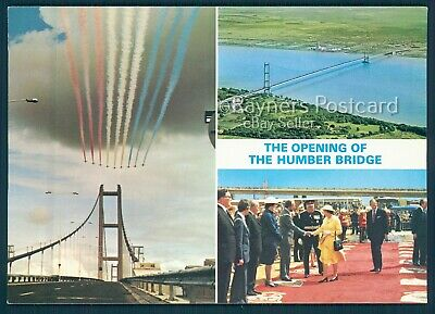 THE OPENING OF THE HUMBER BRIDGE Postcard Picture : 02/13 • 3.99£