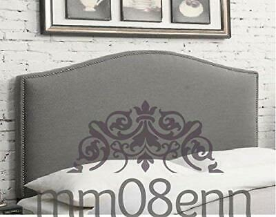 £68.99 • Buy Top Quality Dews Studded Bed Headboard In Plush Fabric S D K SK Height 26 30  UK