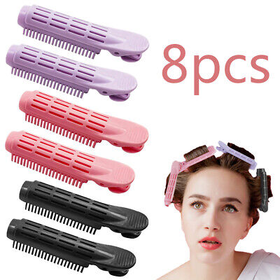 8PCS Hair Curler Clip Instant Hair Volumizing Styling Roller Wave Fluffy Tools  • 6.59£