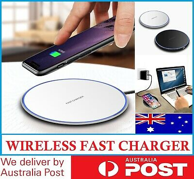 AU10.95 • Buy Qi Wireless Charger FAST Charging Pad For IPhone 12 Pro 11 X XS 8 8+ Samsung AU