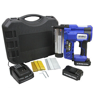 Electric Nail And Staple Gun 2 In 1 Cordless Tacker Extra Battery Heavy Duty • 179.99£