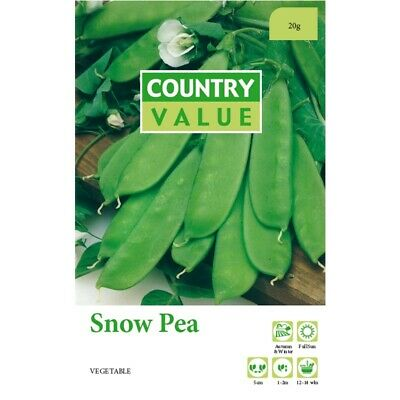 AU4.99 • Buy Snow Pea Seeds Country Value Free Postage