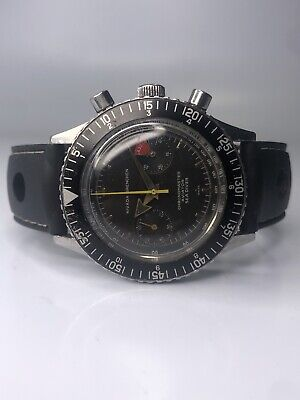 $ CDN2225.47 • Buy Vintage Nivada Grenchen Chronomaster Aviator Sea Diver Watch Valjoux 92