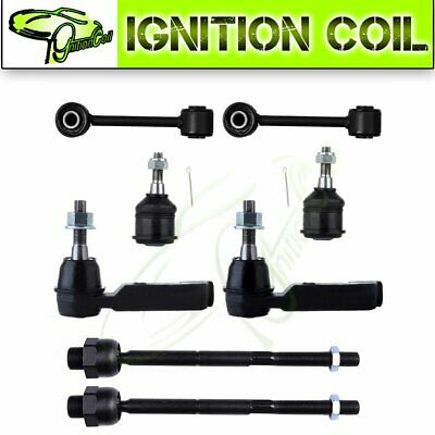 $57.55 • Buy For 05 Jeep Liberty 8 Pieces Front Suspension Kit Sway Bar Ball Joint Tie Rods