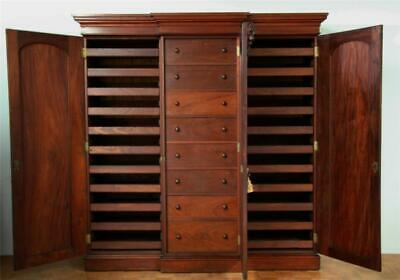 AU9500 • Buy Huge And Rare Antique Colonial Cedar Fully Fitted Breakfront Linen Press Ca 1870