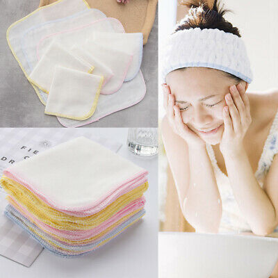 £4.49 • Buy 10x Cotton Face Facial Cleansing Muslin Cloth Towel Cleaning Makeup Dirt Removal