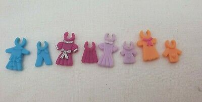 Vintage Polly Pocket 8 Clothes/Outfits For Magical Movin Pollyville • 16.99£