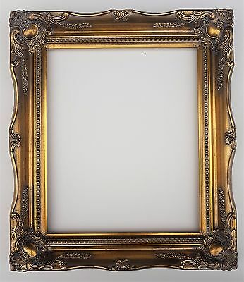 £29.50 • Buy 10 X 8  Gold Ornate Swept Antique Rococo Baroque Picture Frame Real Glass & Back