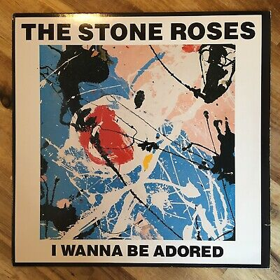 The Stone Roses - I Wanna Be Adored 12  Single 1989 *translucent Black Vinyl* • 100£