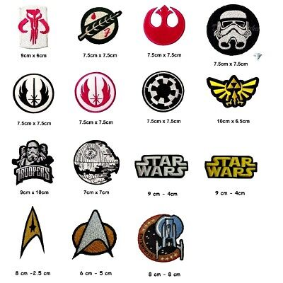 Star Wars Movies Trooper Jedi Collection Iron Or Sew On Embroidered Patches • 2.29£