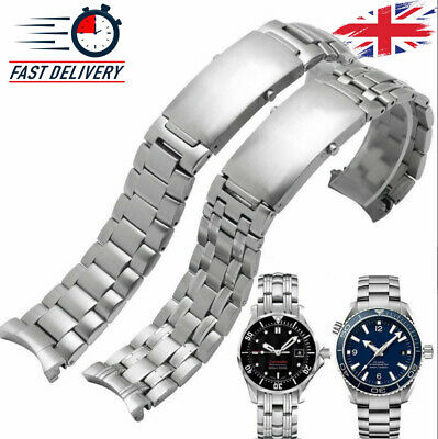 Watch Band Stainless Steel Omega Seamaster Replacement Strap Bracelet Silver 007 • 35.98£